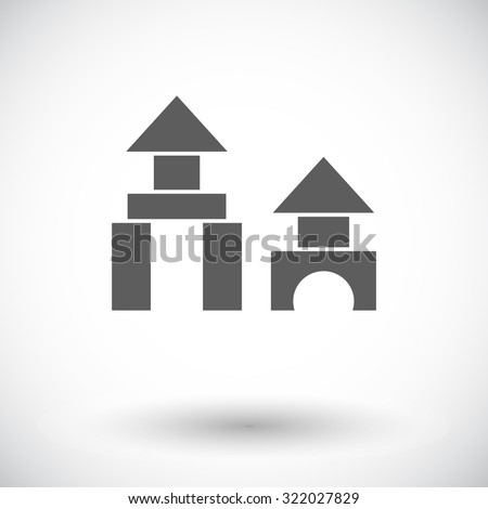 Building block icon. Flat vector related icon for web and mobile applications. It can be used as - logo, pictogram, icon, infographic element. Vector Illustration. - stock vector