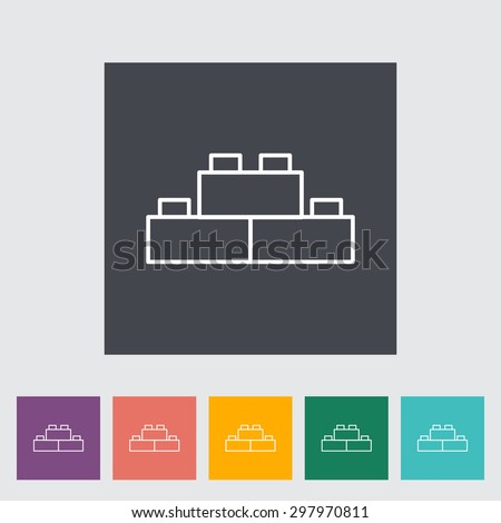 Building block thin line flat vector related icon set for web and mobile applications. It can be used as - logo, pictogram, icon, infographic element. Vector Illustration. - stock vector