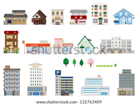 Building / Business - stock vector