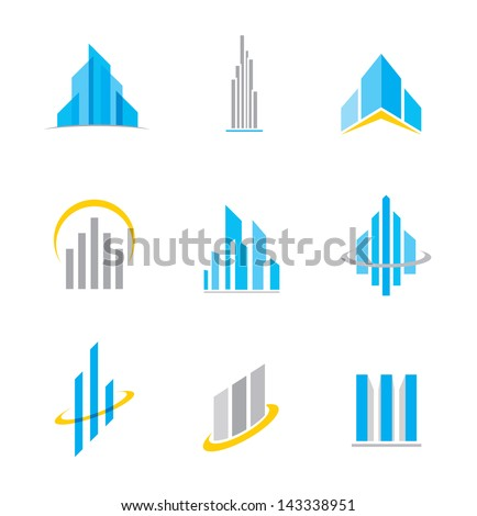 Building business construction logo symbol and icon - stock vector