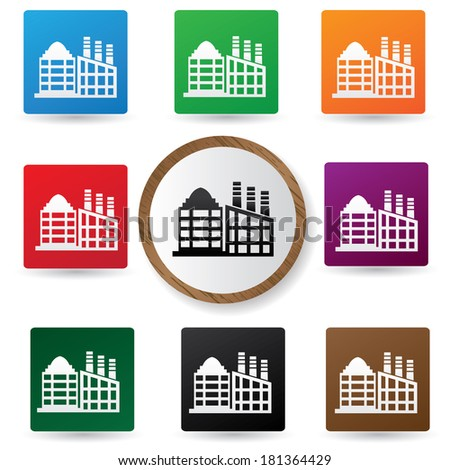 Building buttons,vector - stock vector