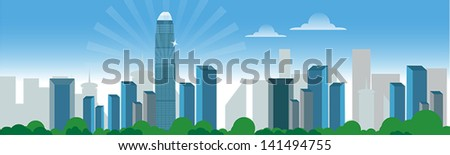 building city - stock vector
