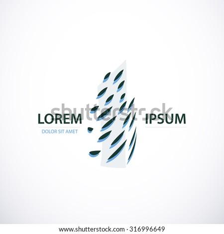 Building company abstract concept logo or icon art - stock vector