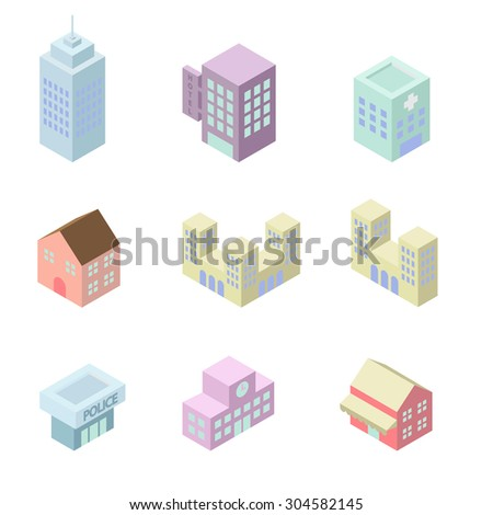 building 3d isometric - stock vector