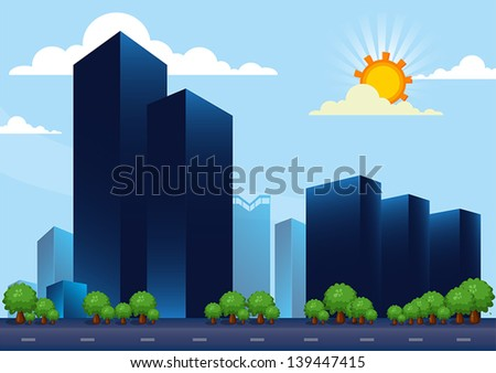 building day - stock vector