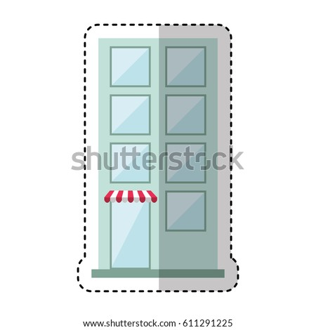 building exterior front isolated icon vector illustration design