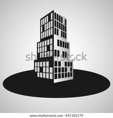 building grey background - stock vector