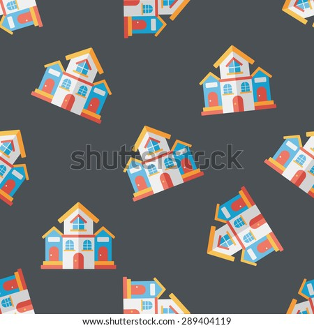 Building house flat icon,eps10 seamless pattern background