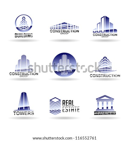 Building icon set. Construction and real estate. Vol 4. - stock vector