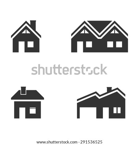 Building icons,Vector EPS10. - stock vector