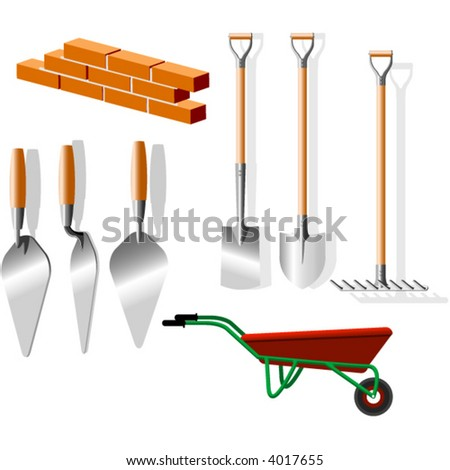 building implements - stock vector
