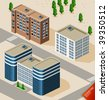 Building Isometric - stock vector