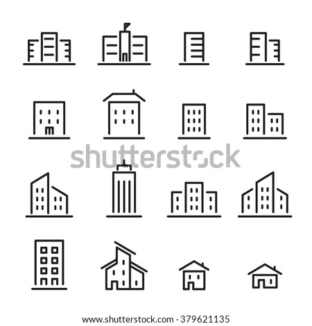 building line icon - stock vector