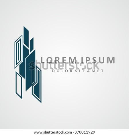 Building logo design. Real estate company logo design, abstract construction logo design. Building logo design  - stock vector