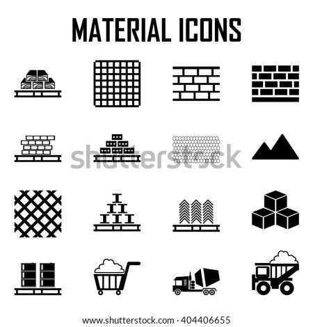 Building materials  - stock vector