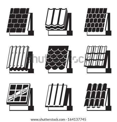 Building materials for roofs - vector illustration - stock vector