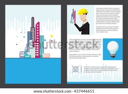 Building Office Brochure Template A Size Stock Vector - Office brochure templates