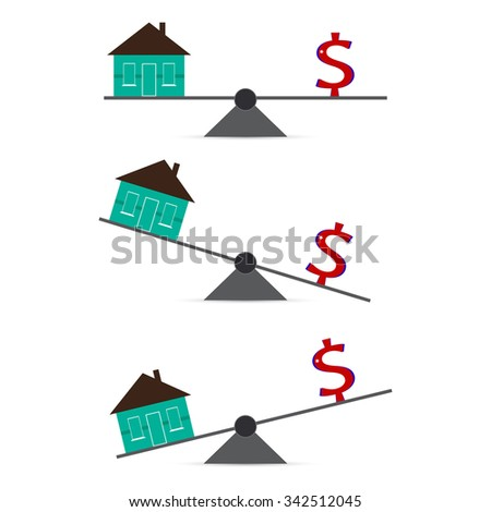 Building on the levers of the dollar. - stock vector