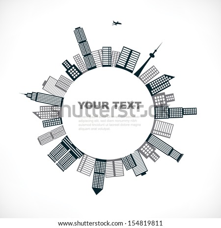 building planet - stock vector