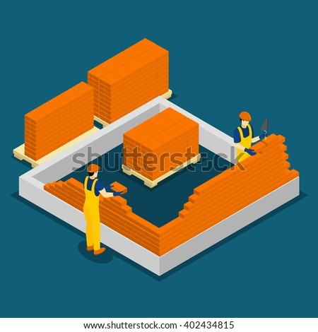 Masons bricks equipment red stock photos royalty free images
