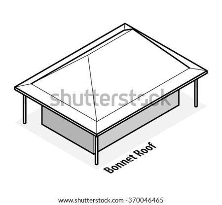 Building Roof Type Saltbox Roof Stock Vector 370046426