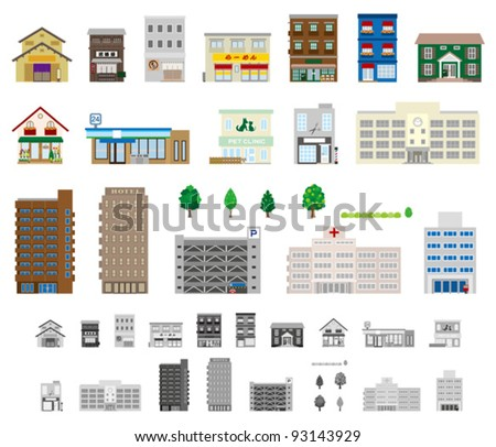 Building / shop - stock vector