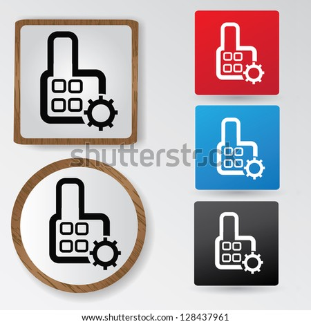 Building sign,vector - stock vector