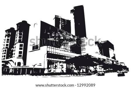 Building silhouette - stock vector