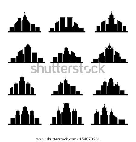 building silhouette stock vector 154070261 - shutterstock
