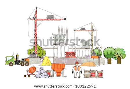Building site - stock vector
