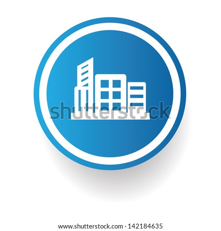 Building symbol,vector - stock vector
