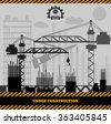 Building under Construction site,Construction infographics Vector illustration eps 10 - stock vector