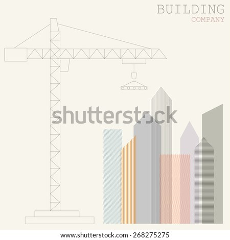 Building vector logo design template. Business icon. - stock vector