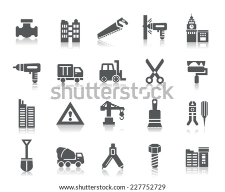 Buildings and Construction Icons - stock vector