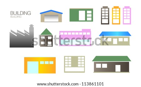 Buildings color vector collection - stock vector