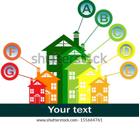 buildings energy performance - stock vector