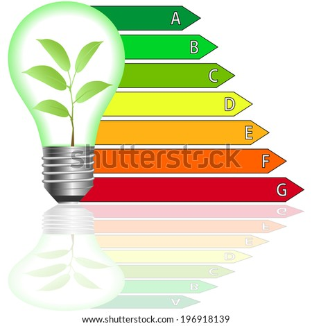 Buildings Energy Performance Scale. Energy efficiency . - stock vector