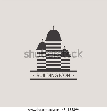 Buildings graphic icons for your design. Construction of a city block. - stock vector