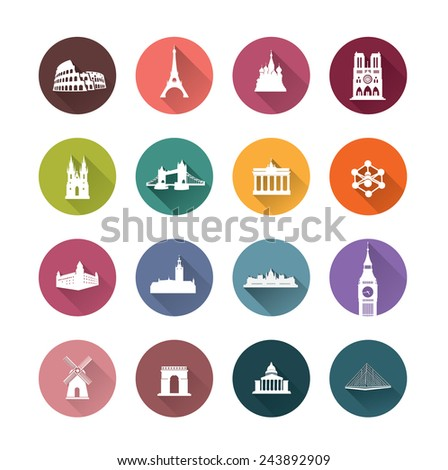 Buildings of Europe Capital cities - stock vector