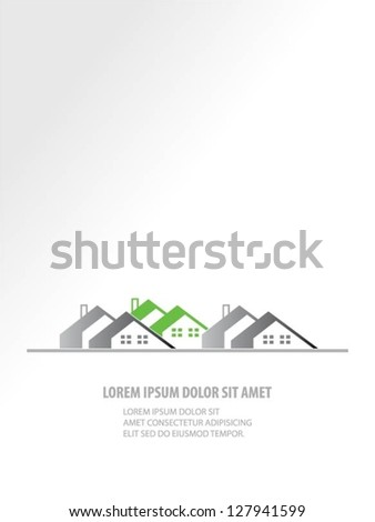 Buildings vector design - stock vector