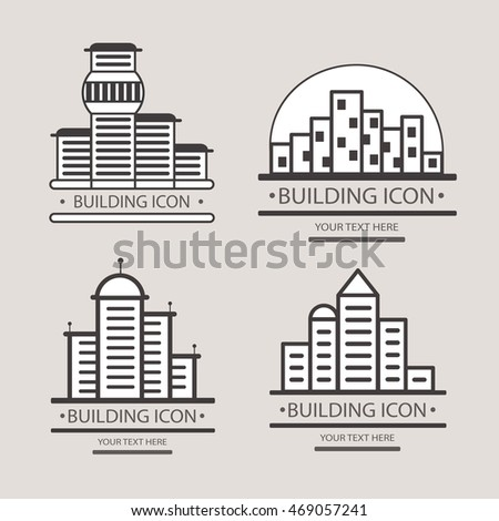 Buildings vector icon for your design. Construction of a city block.