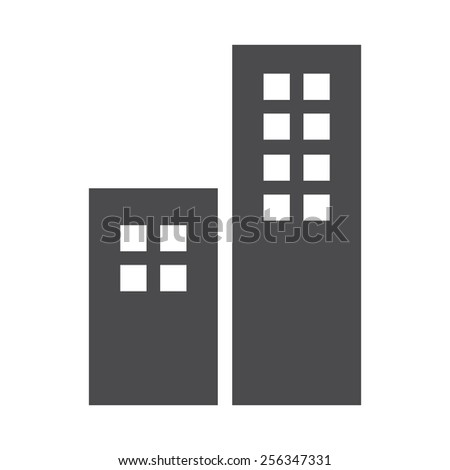 Buildings vector image to be used in web applications, mobile applications and print media. - stock vector