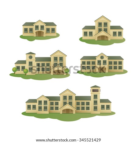 Buildings. Vector set - stock vector