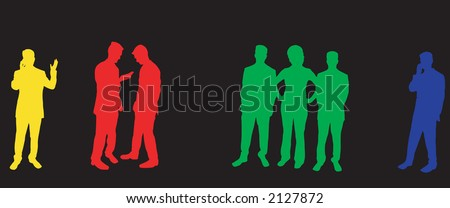 Buisness people silhouettes - stock vector