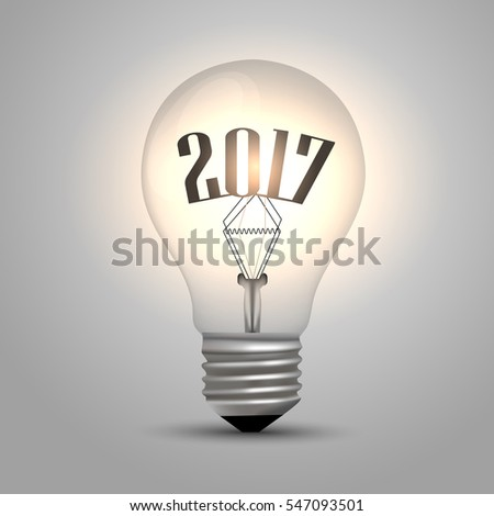 Bulb background - year 2017