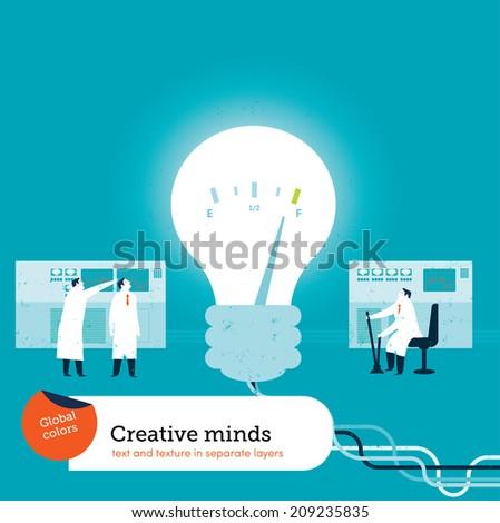 Bulb Creativity - stock vector