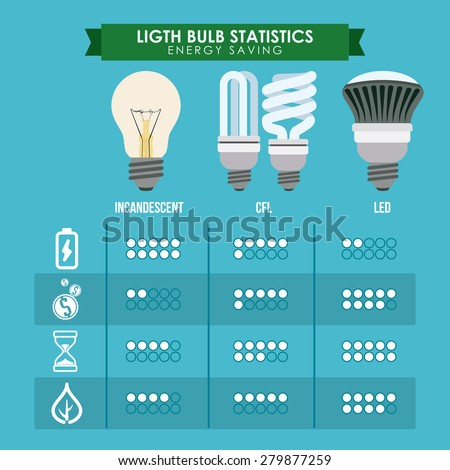 Bulb design over blue background, vector illustration. - stock vector