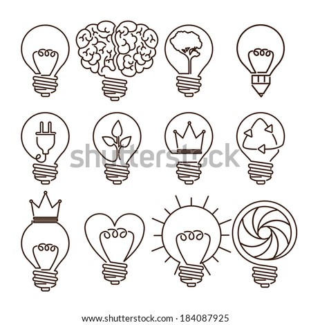 bulb design over white background, vector illustration - stock vector
