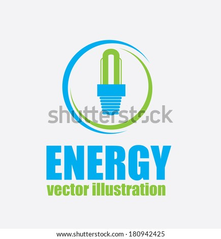 bulb energy design over blue background vector illustration  - stock vector