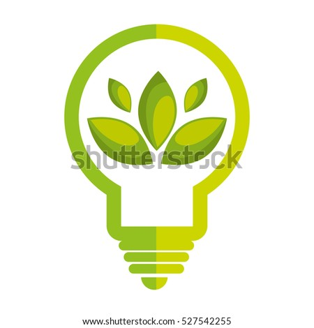 bulb energy with leafs ecology